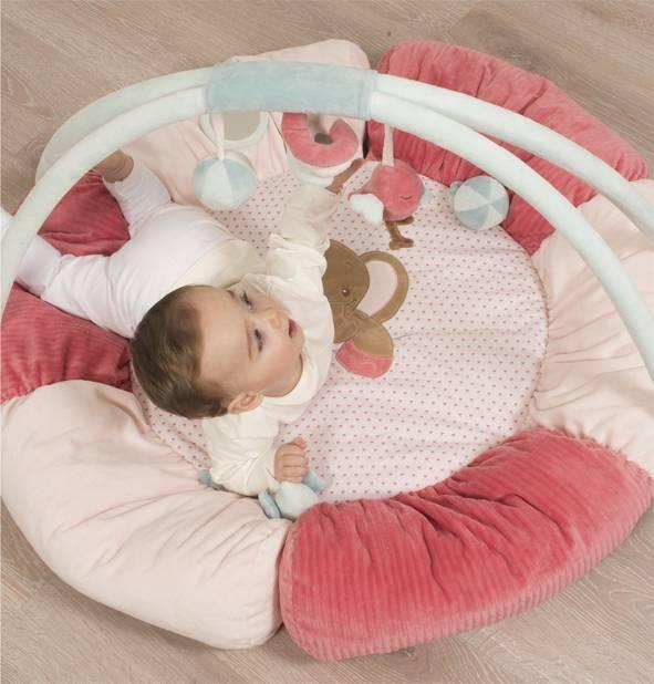 nattou tapis d 39 eveil pouf charlotte et rose. Black Bedroom Furniture Sets. Home Design Ideas
