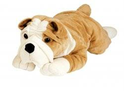 nounours peluche chien bulldog anglais 80 cm. Black Bedroom Furniture Sets. Home Design Ideas