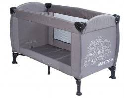 nattou lit parapluie gris oasis doudouplanet. Black Bedroom Furniture Sets. Home Design Ideas