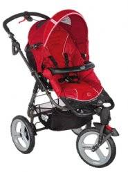 B b confort poussette high trek oxygen red rouge - Hamac poussette high trek ...